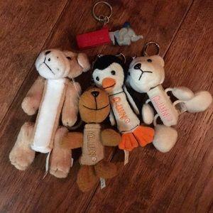 Pez Keychain lot elephant penguin bear dog